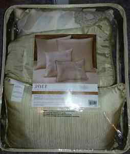 """NEW"" 4-pc Cushion Set,  also 1 Large Cushion & 2 Euro Shams"