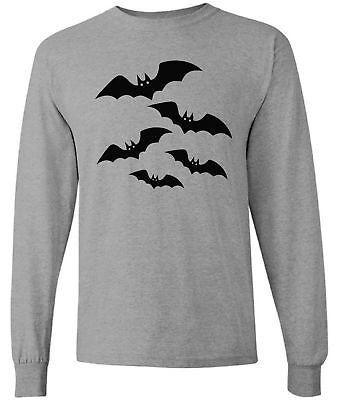 Halloween Long Sleeve T Shirts (Men's Halloween Bats  Long Sleeve Shirts Tops Evil Black Halloween)