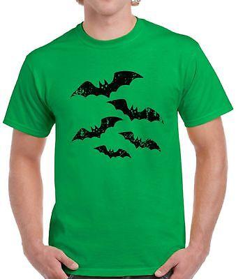Men's Halloween Bats T shirt Tops Halloween Shirts Evil Black Vintage Bats](Vintage Halloween T Shirts)
