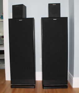 Sony tower speakers with 2 surround speakers