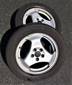Saab rims plus mounted tires