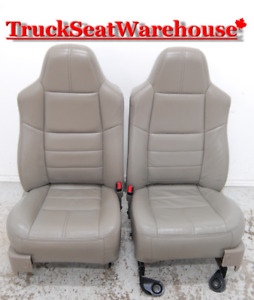 Ford F250 TAN LEATHER Power Front Seats F350 F450 Superduty OEM