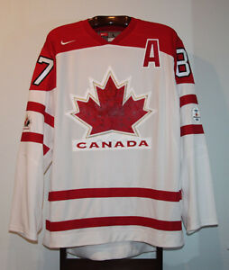 NIKE SIDNEY CROSBY 2010 OLYMPICS TEAM CANADA HOME JERSEY LARGE