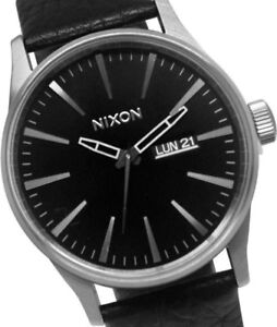 Nixon Sentry Leather Watch NEW!