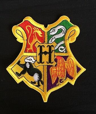 Harry Potter Costumes Diy (HOGWARTS XXL HARRY POTTER WIZARD SCHOOL CREST.DIY CLOAK IRON PATCH.BOOK)