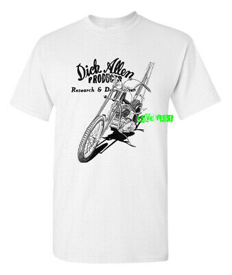 DICK ALLEN PRODUCTS T SHIRT retro chopper motorcycle springer biker icon -