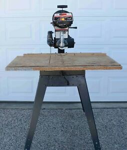"""Craftsman 10"""" Radial Arm Saw with Accessories"""
