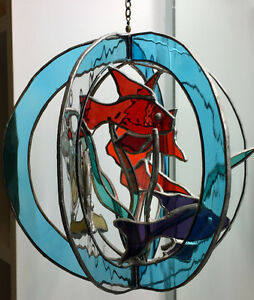 3 D Stained Glass Fish mobile