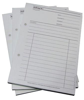 1x Auftragsblock,DIN A5,durchschreibend 2x50 Blatt - Auftrag, gelocht (22431)
