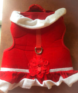 **RED MARTHA STEWART CHRISTMAS DOG COAT FOR SALE-SIZE S**