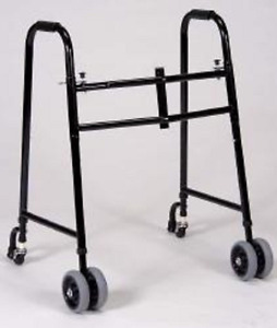 Tall Extra Wide Bariatric Walker with Wheels Rated for 600 lbs.