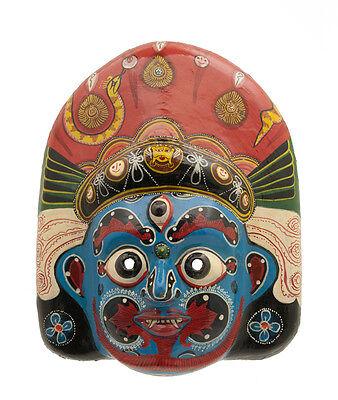 Mask Hat and Mitten Set Mahakali Kali Dance Indra Jatra Nepal Paper Mache 7315