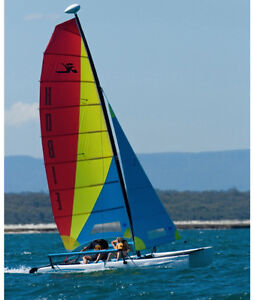 Hobie Cat Getaway With Trailer - Damaged But Fixable