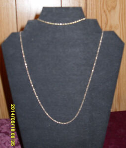 """10kt yellow gold polished twisted 16"""" necklace/matching bracelet"""