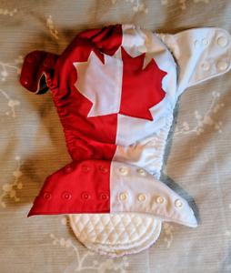 Maple flag canadian cloth diaper