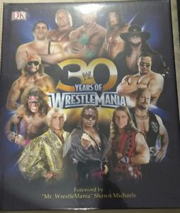 30 Years of Wrestlemania – hardcover book brand new still sealed