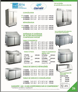 FRIGO--REFRIGERATION,--FREEZER--,PREP TABLES -- 55 modèles