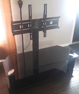"""Black tempered glass TV stand for up to 50"""" flat screen"""