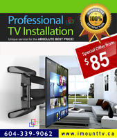 Perfect TV Installation and TV Wall Mounting by i-Mount-TV