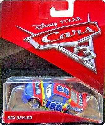 Disney Pixar Cars 3 Rex Revler Gask Its # 80 Mattel Diecast 1:55 Scale New 2017