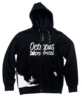 PADI Zipper-Hoodie Men Octopus (Black - L) Taucher Pullover, NEU