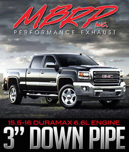 MBRP Performance 3-INCH Downpipe - 2015.5-16 Duramax 6.6L Engine