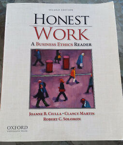 LAW BOOKS - Honest Work - A Business Ethics Reader