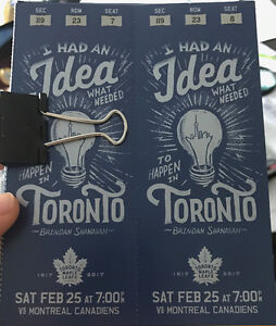 Toronto Maple Leafs vs. Montréal Canadiens tickets for sale