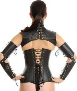 MULTI-USE/PURPOSE GENUINE SOFT BLK LEATHER CORSET BY NORTHBOUND West Island Greater Montréal image 5