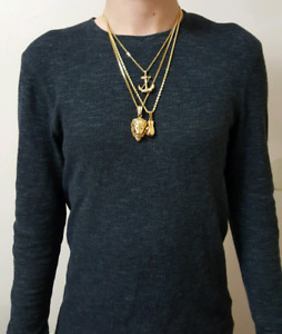 Gold Plated Combo Set (Lion/Glove/Anchor)