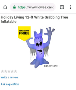 Halloween 12ft inflatable scary tree