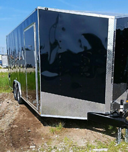 New 2018 8.5x16 8.5x20 8.5x24 25 28 Enclosed Trailers