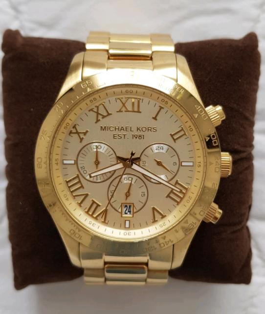85e2b2514fc2 Michael Kors Replica Gold Mens Watch Boxed