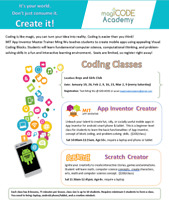 Coding Classes - App Inventor and Scratch