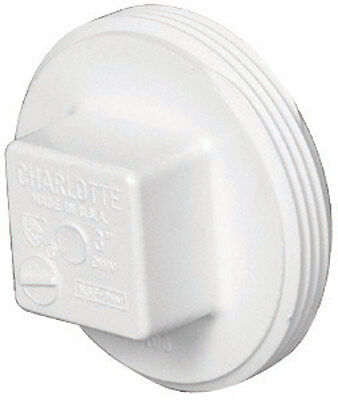 Charlotte Pipe  3 in. Dia. MPT  Schedule 40  PVC  Clean-Out Plug