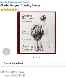 Charles Bargue Drawing Course book - Unused