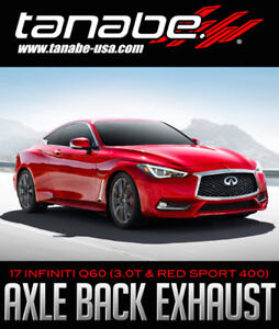 Tanabe Medalion Touring Axle-Back Exhaust - 2017 INFINITI Q60