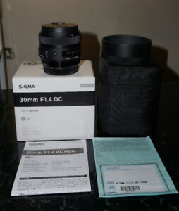 Sigma 30mm f/1.4 Art lens for Canon for sale