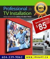 iMount TV installation / TV Install / Wall Mounting Services