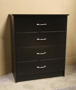 Espresso Dark Brown 4 Drawer Chest - NEW