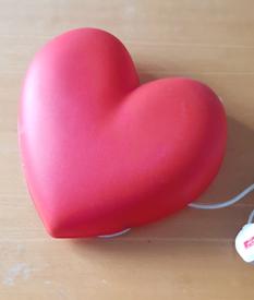 Heart shaped wall lamp