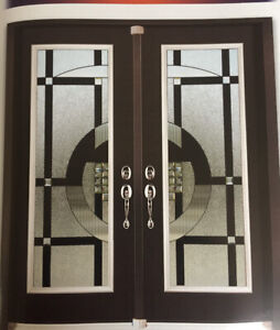 Door glass inserts for entry doors stained glass wrought iron