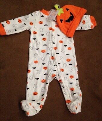 New Carters 1st Halloween Pumpkin Ghost Bat Bodysuit Outfit Hat Costume 3 Month - 1st Halloween Costumes