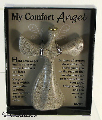 My Comfort Angel Cross Hold Hand Palm Strength Calm Prayer Ganz  Religious NIB