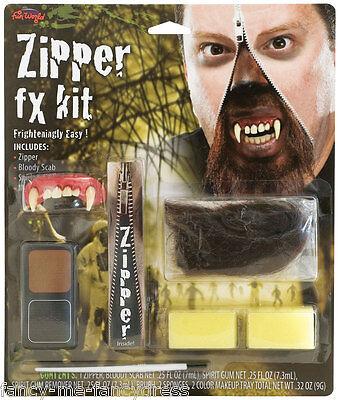 Halloween Werwolf Blutige reißverschluss Spezial Effekten Make-up Maskenkostüm