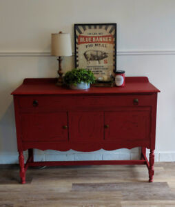 Antique Red Buffet