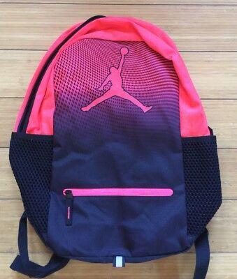 cff41d082762 New NIKE AIR JORDAN Jumpman Backpack School Bag Laptop RED BLACK 9A1836-N31