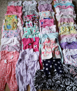0 to 3 months baby girl clothes and nursing cover.