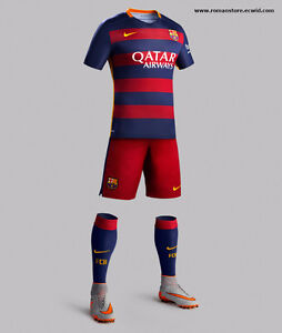 Kids set Barcelona jerseys and shorts Messi 10, For 6-13 years