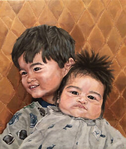 Painted Portrait of your Baby or Child! w/ or w/out a character!